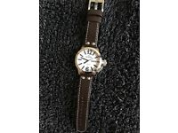 T W Steel Watch Brown Leather Strap