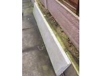 """3 off 6ft x 12"""" concrete gravel boards smooth"""