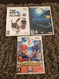 Nintendo Wii Games Incl Mario and Sonic