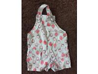 Strawberry dungarees