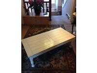 Solid pine painted (stone colour) coffee table