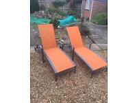 2 steamer chairs. Loungers. Recliners