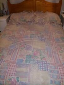 PINK PATCHWORK DOUBLE DUVET SET