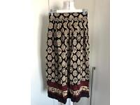 Sag Harbour Petite Long Print Summer Skirt size 8/10