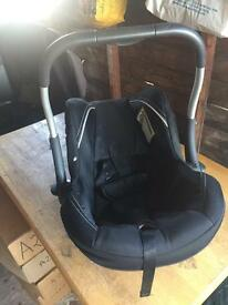 Silver cross car baby seat pram new never used.