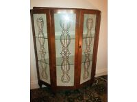 Vintage china cabinet with rare Celtic design on doors. Dundonald area. Great piece.