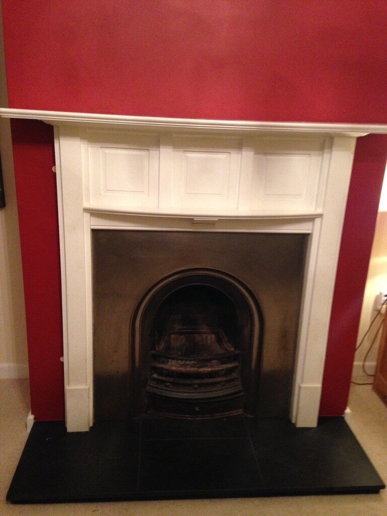 White painted fire place surround