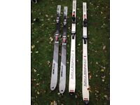 Old style skis. 2 pair. Intersport/Dynastar