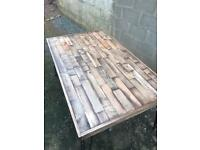 Dining table urban recycled industrial