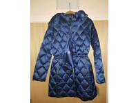 New Michael Kors Ladies Packable Down Coat Jacketwith Tags Size-L Colour-Dark Blue