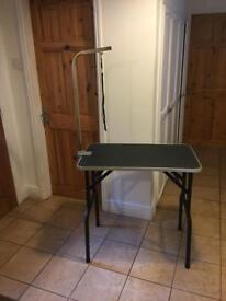 Dog grooming table and equipment
