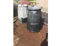 2 x Used Compost Bins - Newton of Falkland, Fife