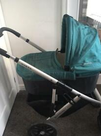 Uppababy pram with attachments