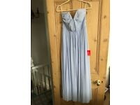 Brand new with labels (never worn) Cornflower blue bridesmaid dress ASOS