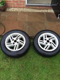 Pair of XR3i Escort alloy wheels