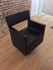 9 x Maletti Modern Salon Hair Cutting Black chairs designed by Philippe Starck
