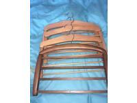Wooden trousers coat hangers