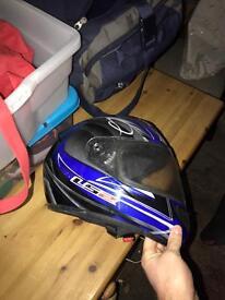 Motorcycle helmet size medium.