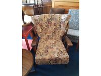 Lovely cottage style wooden armchair