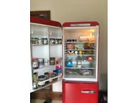 Red Smeg retro Fridge freezer