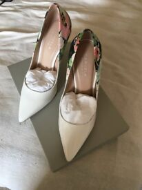 Kurt Geiger White Patent ladies shoes- Size7 - Brand new, never been worn