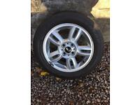 GENUINE BMW MINI 15 INCH ALLOY AND TYRE