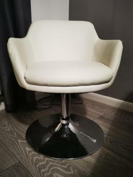 Two cream egg chairs  for sale  Ely, Wales