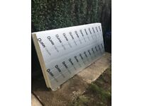3 sheets of unused 8 by 4 (50mm thickness) Quinn Therm insulation (celotex)