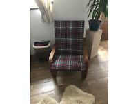 Cream IKEA armchair