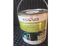 Outdoor wood coloured paint