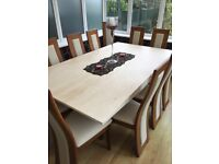Marble dining table and chairs - like new