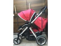 Red Oyster Max double buggy pushchair