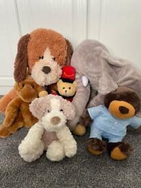 Bundle of 6 teddy bears