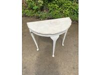 Vintage (victorian) Side Table, Lamp Table (Half Round)