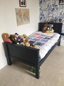 Boys John Lewis Navy Blue Single Bed with Chest of Drawers
