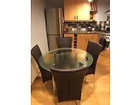 Glass Kitchen or Dining Table & Chairs