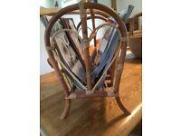 magazine rack storage wicker vintage
