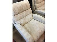 Electric lazy boy recliner chairs cost new 700 pounds each our price 245 each