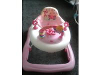 baby walker pink new
