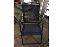 Outside table and chairs x6