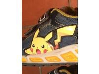 Geox Shuttle Boys' Navy-Yellow Pokemon Pikachu trainers. Ogam Igam. Size UK 11 ½. Can post.