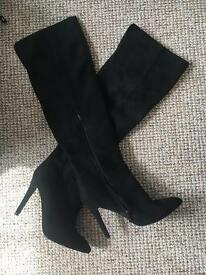 Ladies thigh high boots, worn once