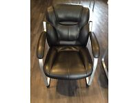 Black Faux Leather Chairs (8 chairs in total, priced individually)