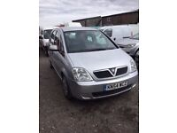 54 REG DIESEL VAUXHALL MERIVA IN VGCONDITION NICE DTIVING CAR MOT ECONOMICAL FAMILY SALOON ANYTRIAL