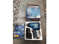 Workzone Impact wrench, extension bar and sockets, 1/2 drive