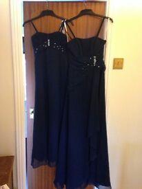 6 Bridesmaids dresses, shoes flowers