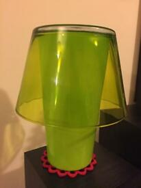 Green Ikea lamp