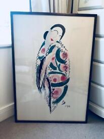 Japanese woman artwork
