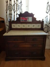 Antique marble top drawers
