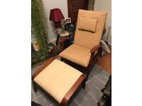 Lovely arm chair and foot stool